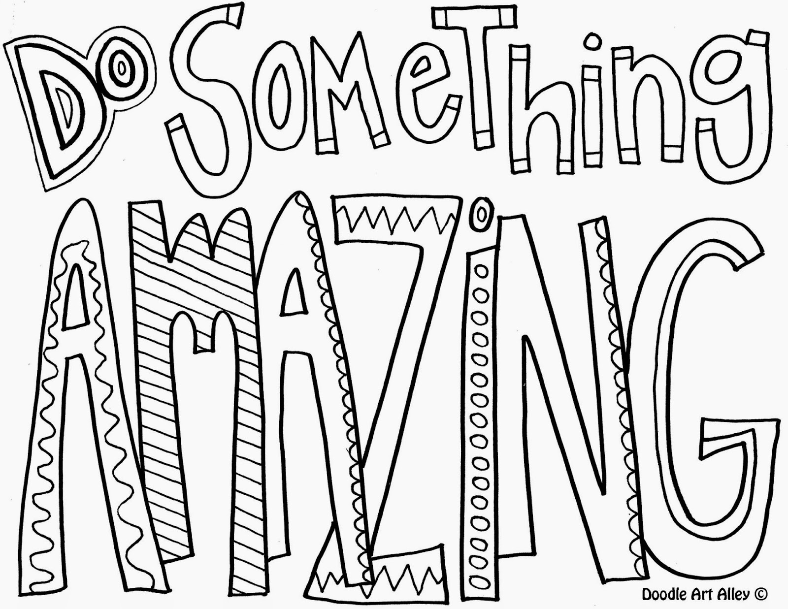 Do something amazing - Quote Coloring Pages