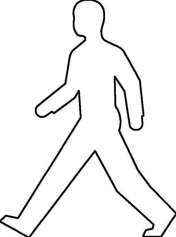 Outline Of Person Coloring Page Coloring Home
