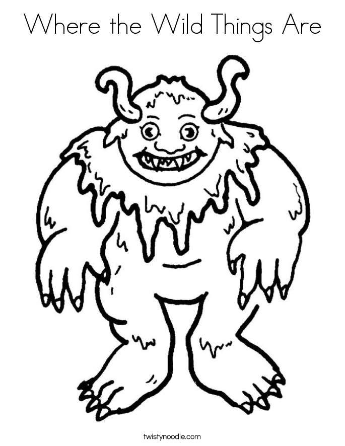 Coloring Pages For Where The Wild Things Are : Where the wild things are printable coloring pages
