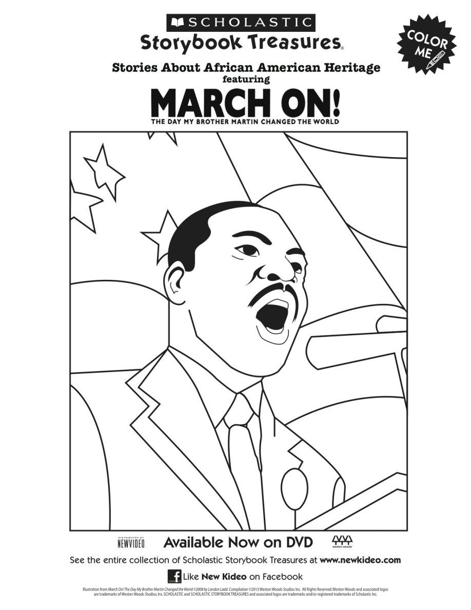 Mlk Coloring Pages Martin Luther King Coloring Pages Free. Kids ...