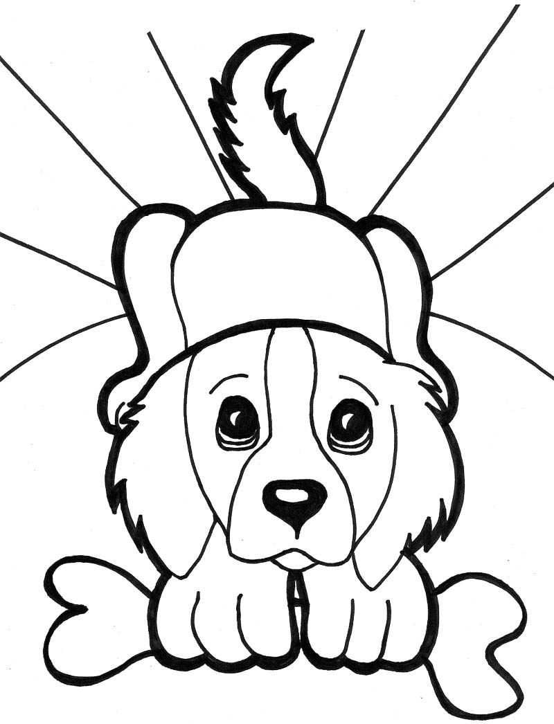It is an image of Refreshing Puppy And Kitten Coloring Pages