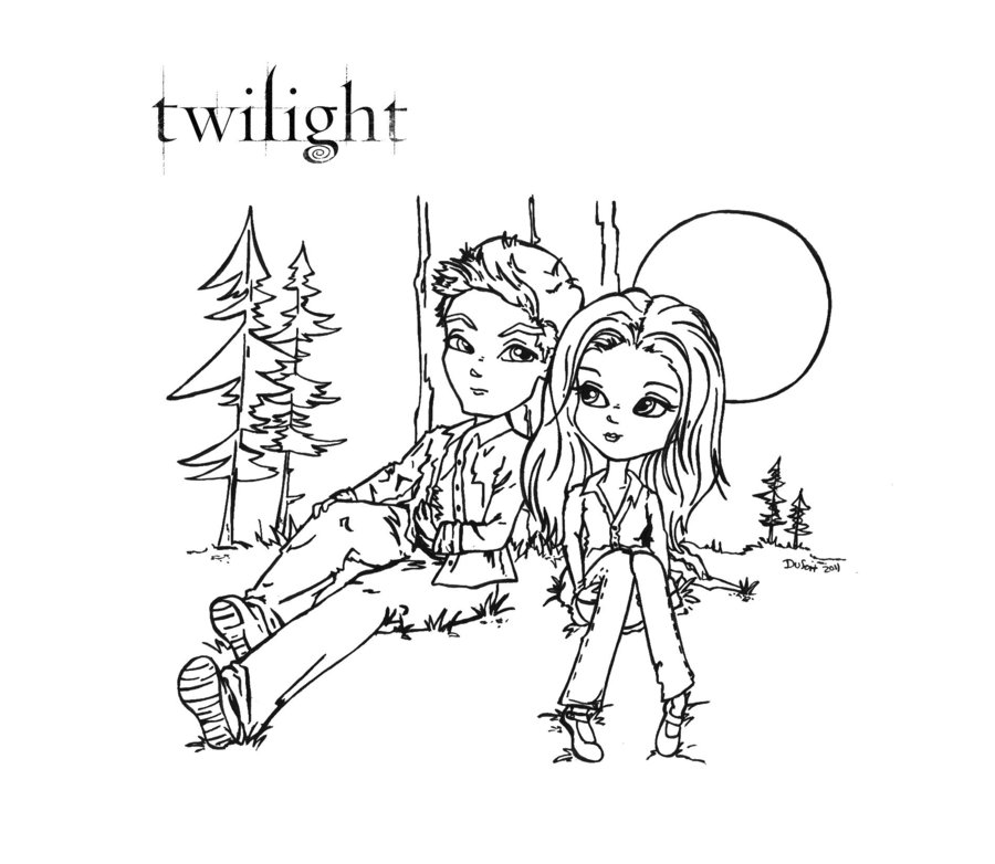 coloring pages of twilight coloring home