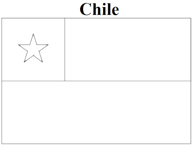 Chile Flag Coloring Page Coloring Home Chile Flag Coloring Page