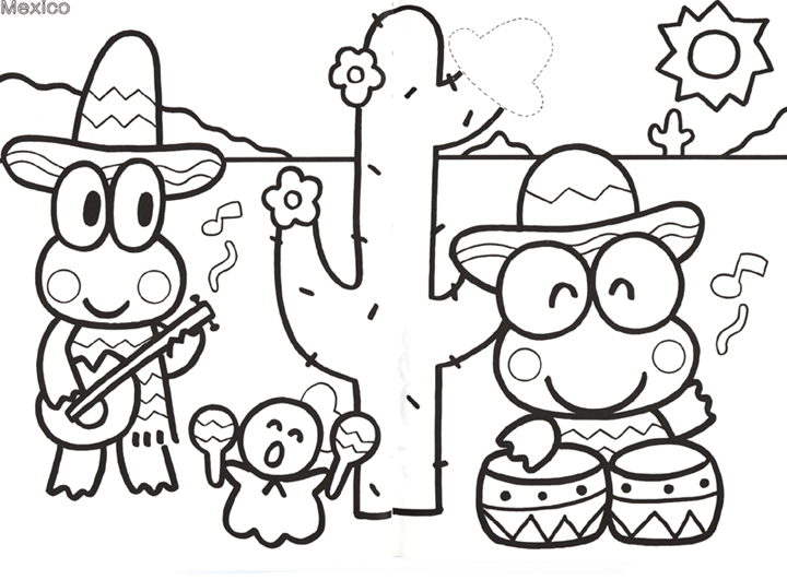 free keroppi coloring pages - photo #21