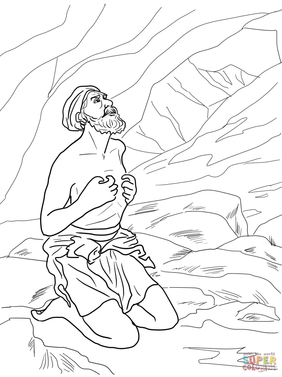Gods Angel Called Gideon Coloring Page