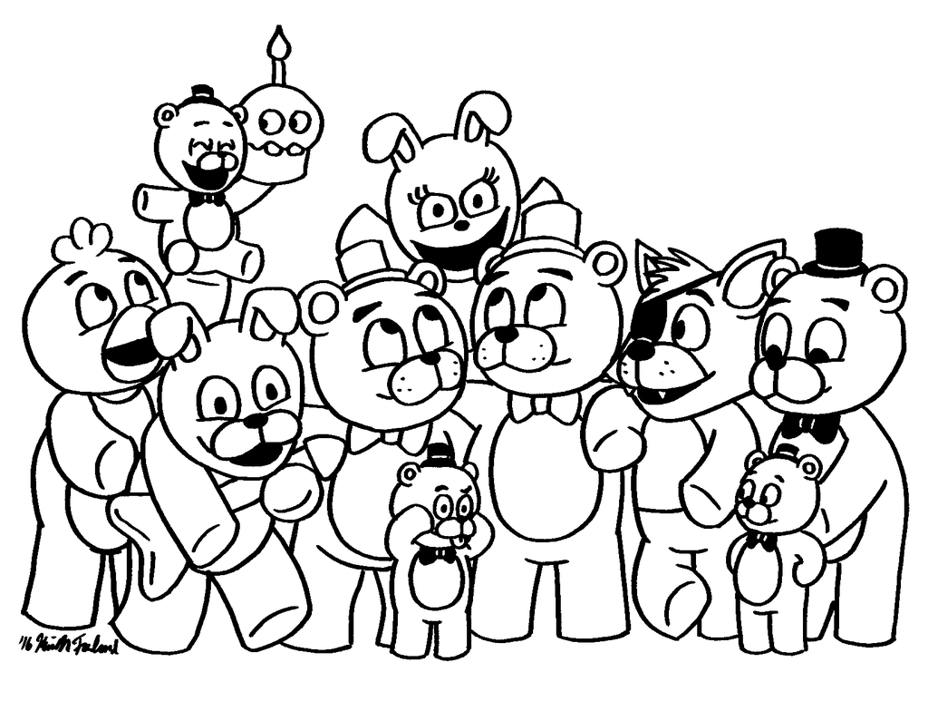 It's just an image of Free Printable Five Nights at Freddy's Coloring Pages throughout colour