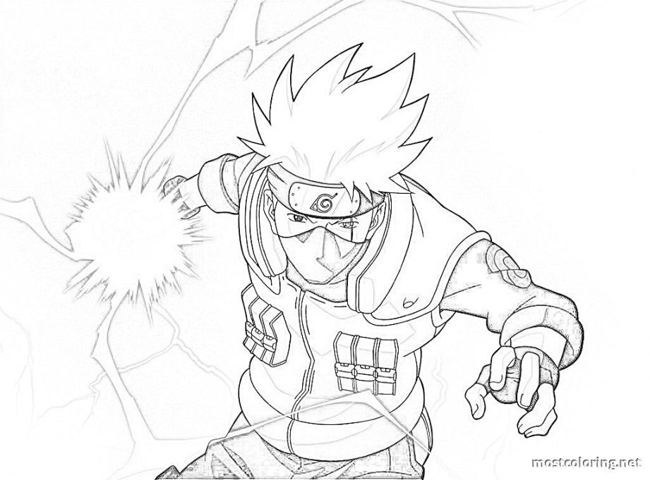 Naruto Coloring Pages Kakashi | Coloring Pages Printable | Kakashi chidori,  Kakashi drawing, Naruto sketch drawing