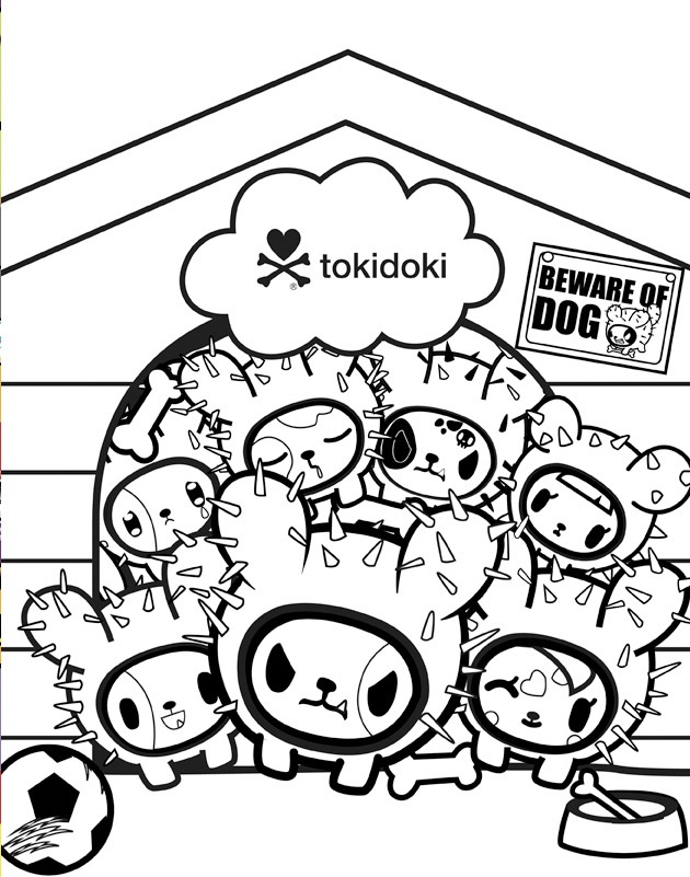 tokidoki coloring pages. everything. tokidoki donutella coloring ...