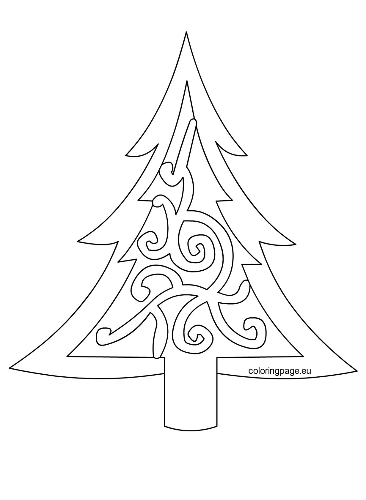 Christmas Tree Printable Template Coloring Home