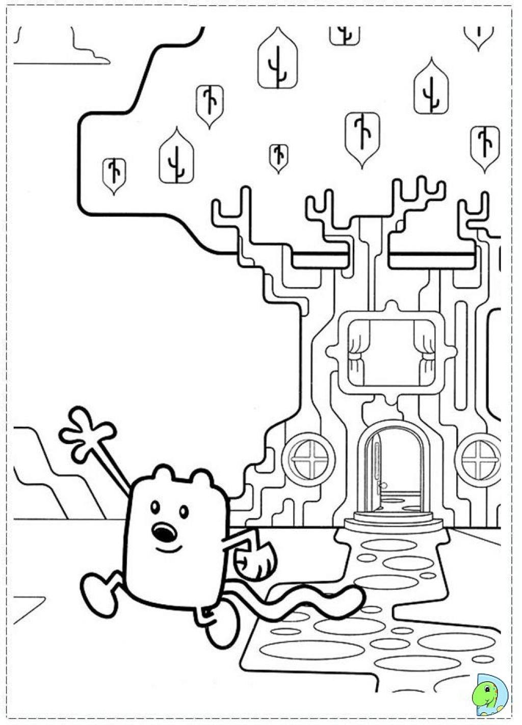 Wow Wow Wubbzy Coloring Pages 9 | 1422x1024