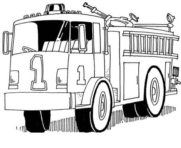 Coloring Pages Fire Engine