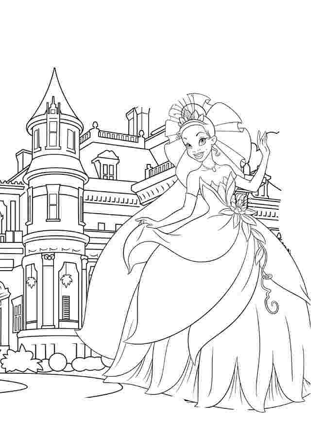 Princess castle colouring page | Castle coloring page, Coloring ... | 906x667