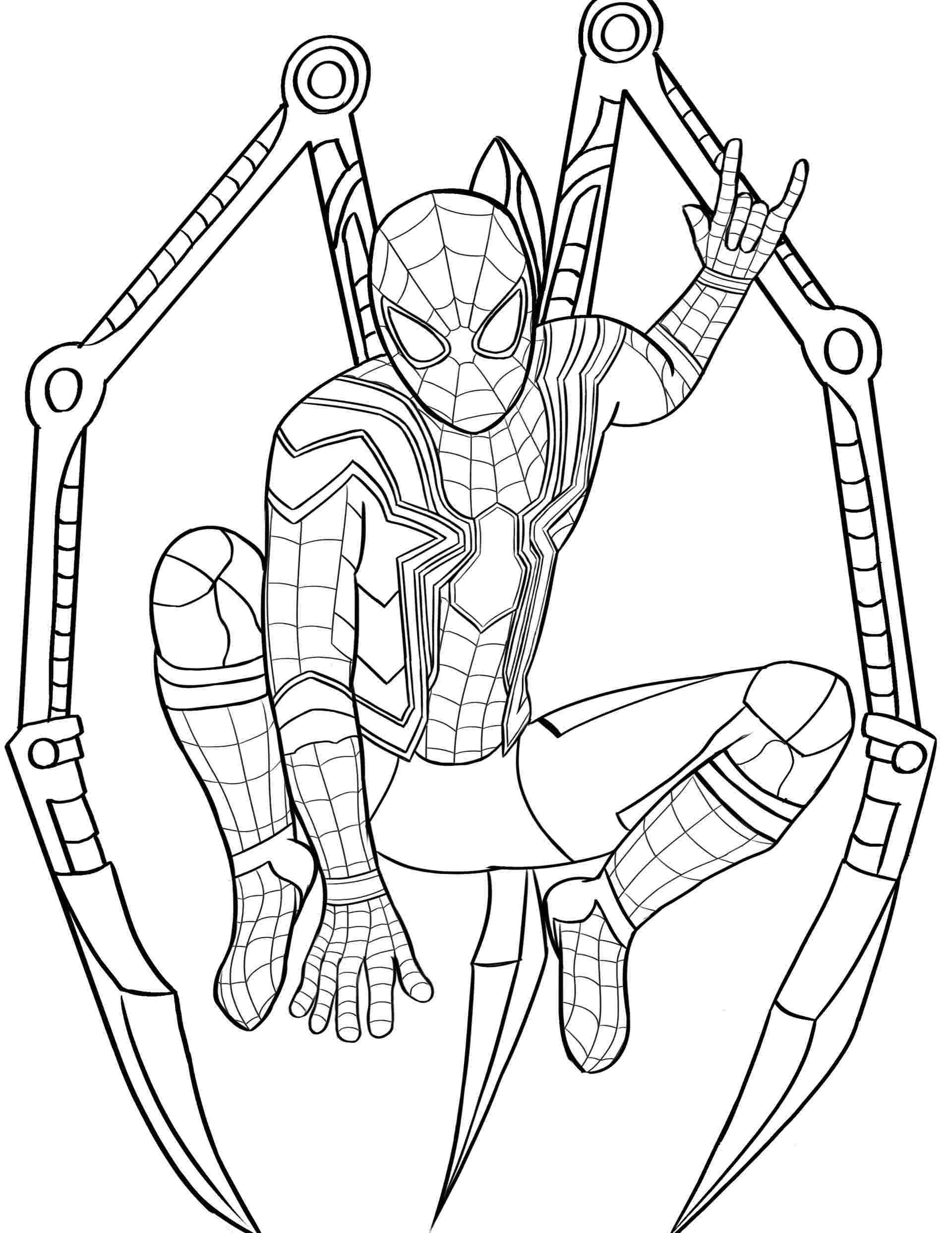 Coloring Pages   Iron Spider Coloringes Spiderman For Color ...