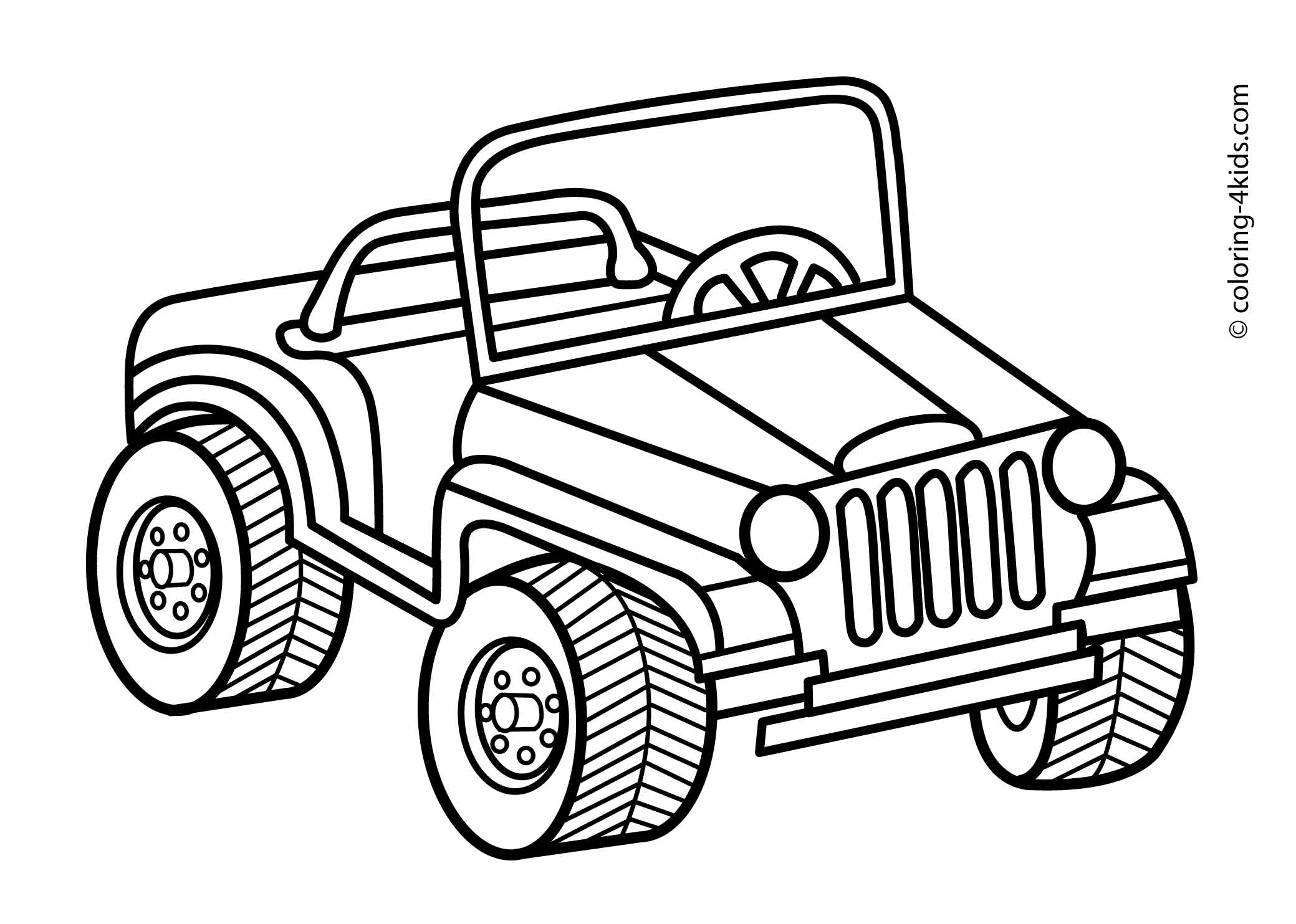 Military Jeep Coloring Pages Realistic Coloring Pages Coloring