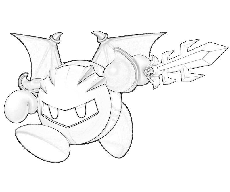 Meta Knight Coloring Pages To Print Az Coloring Pages Meta Coloring Pages