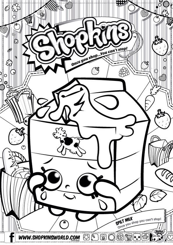 coloring pages : Shopkin Coloring Pages Elegant Shopkins Colour Color Page  Spilt Milk Shopkinsworld Shopkin Coloring Pages ~ peak