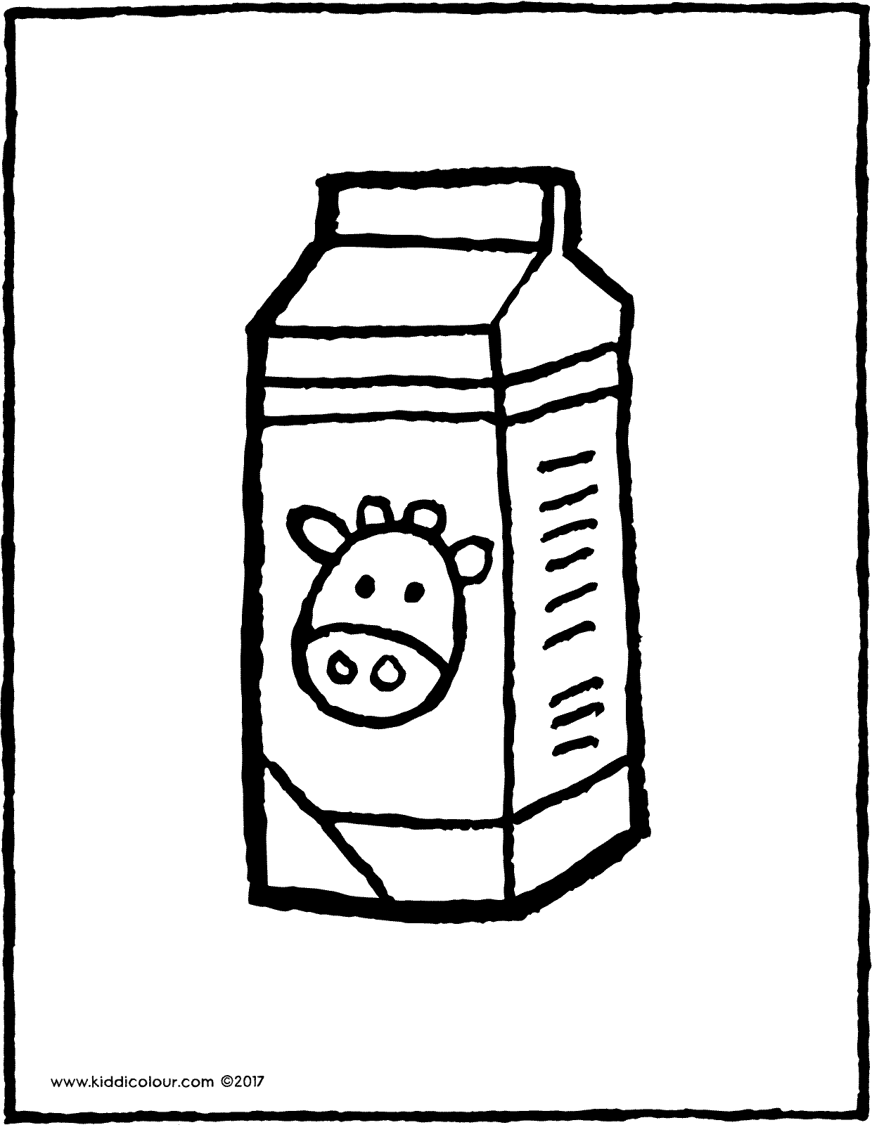 a carton of milk - kiddicolour
