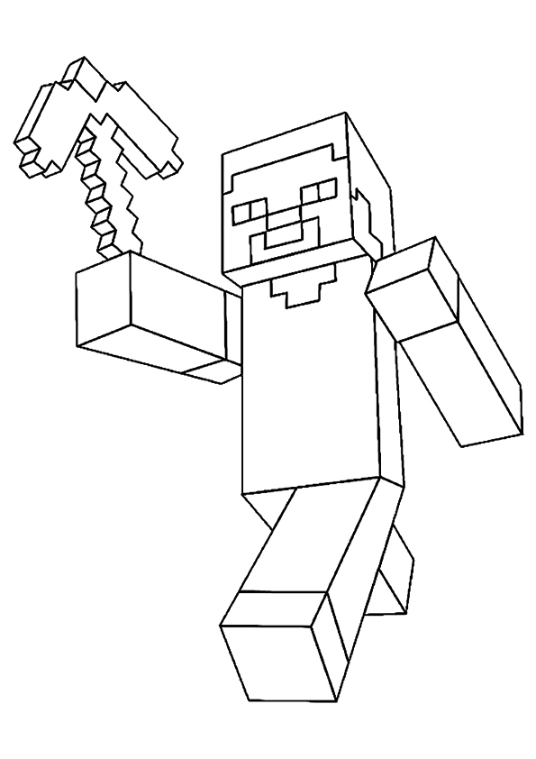 Steve In Minecraft Coloring Page - Free Printable Coloring ...