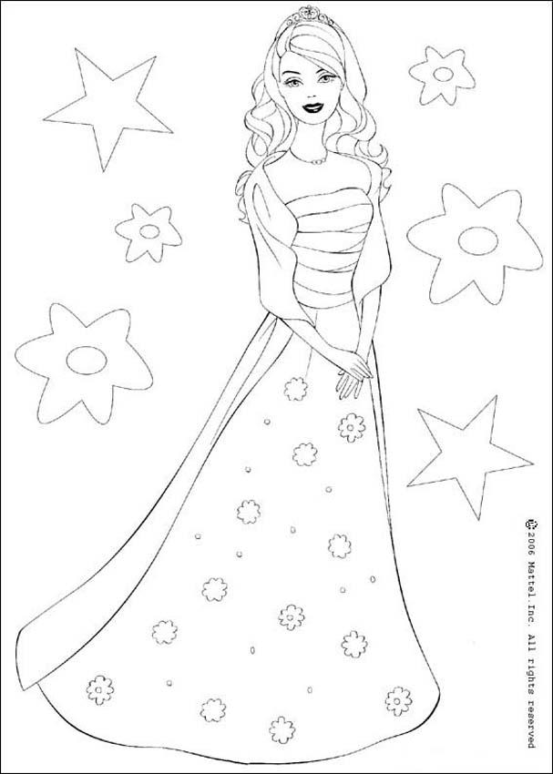 BARBIE DOLL coloring pages - Barbie the Star