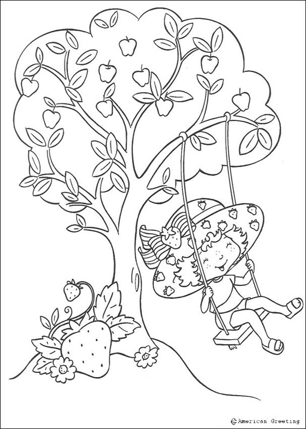 STRAWBERRY SHORTCAKE coloring pages - Strawberry Shortcake having