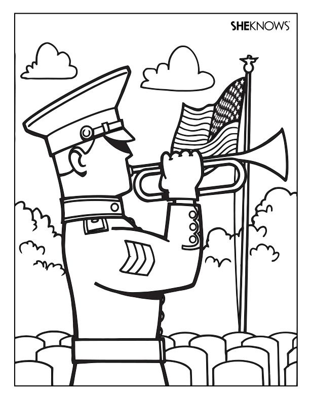 Veterans Day Coloring Page For Fourth Grade