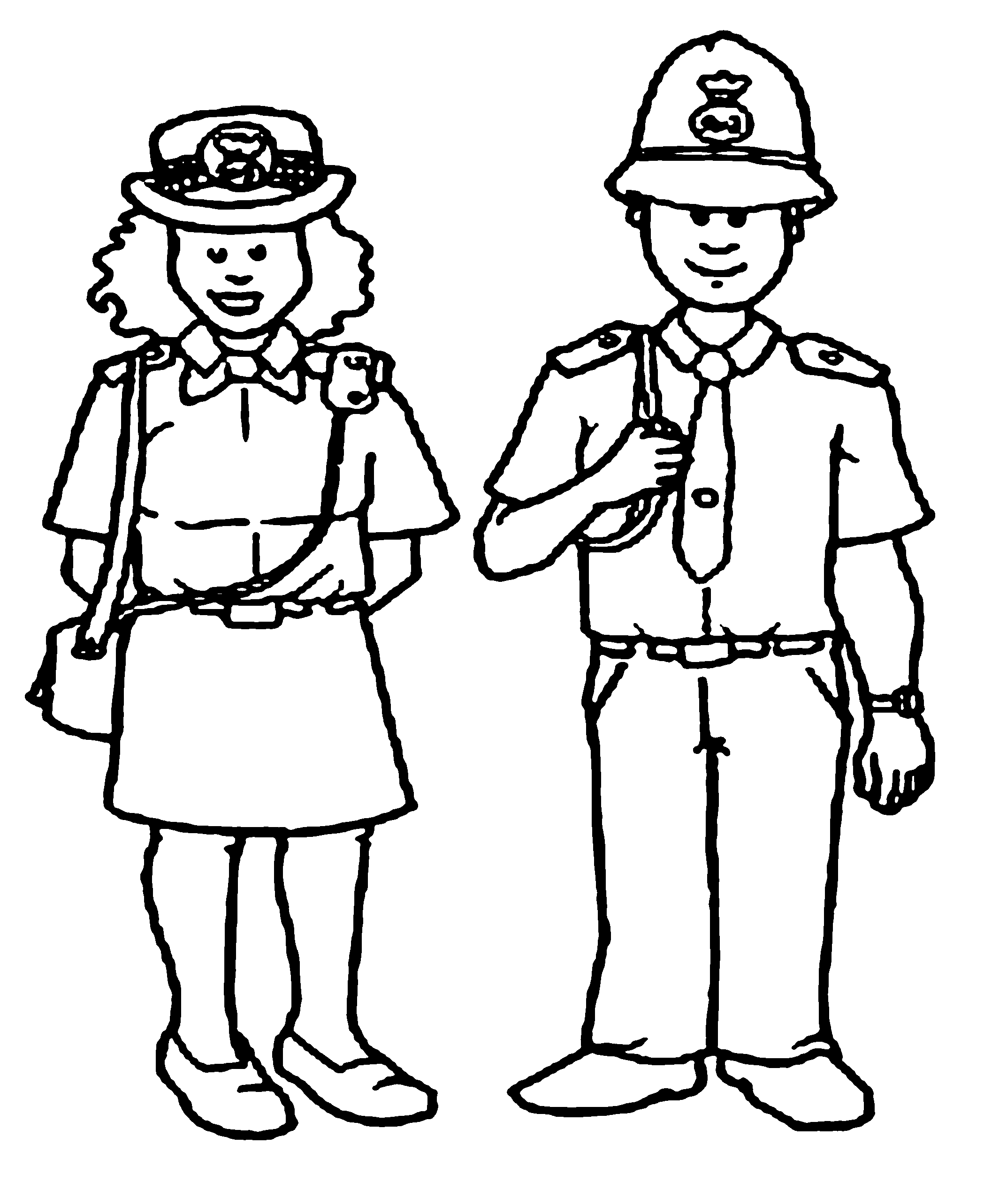 Free Kids Police Officer Coloring