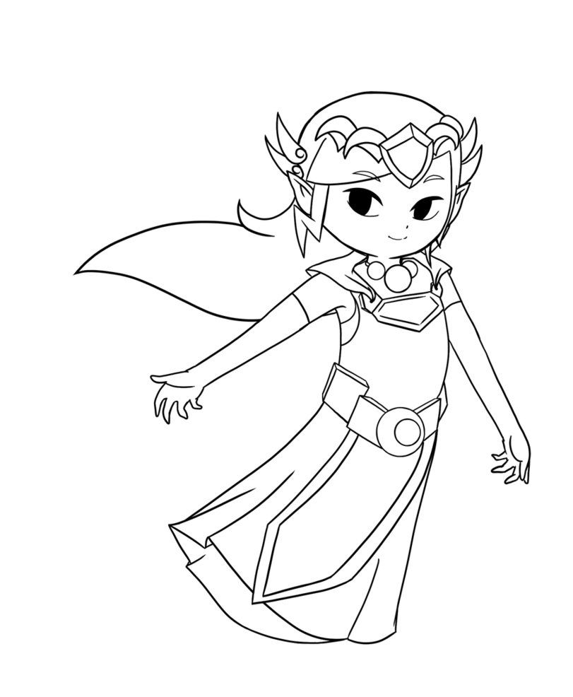 Toon Zelda Coloring Pages - High Quality Coloring Pages