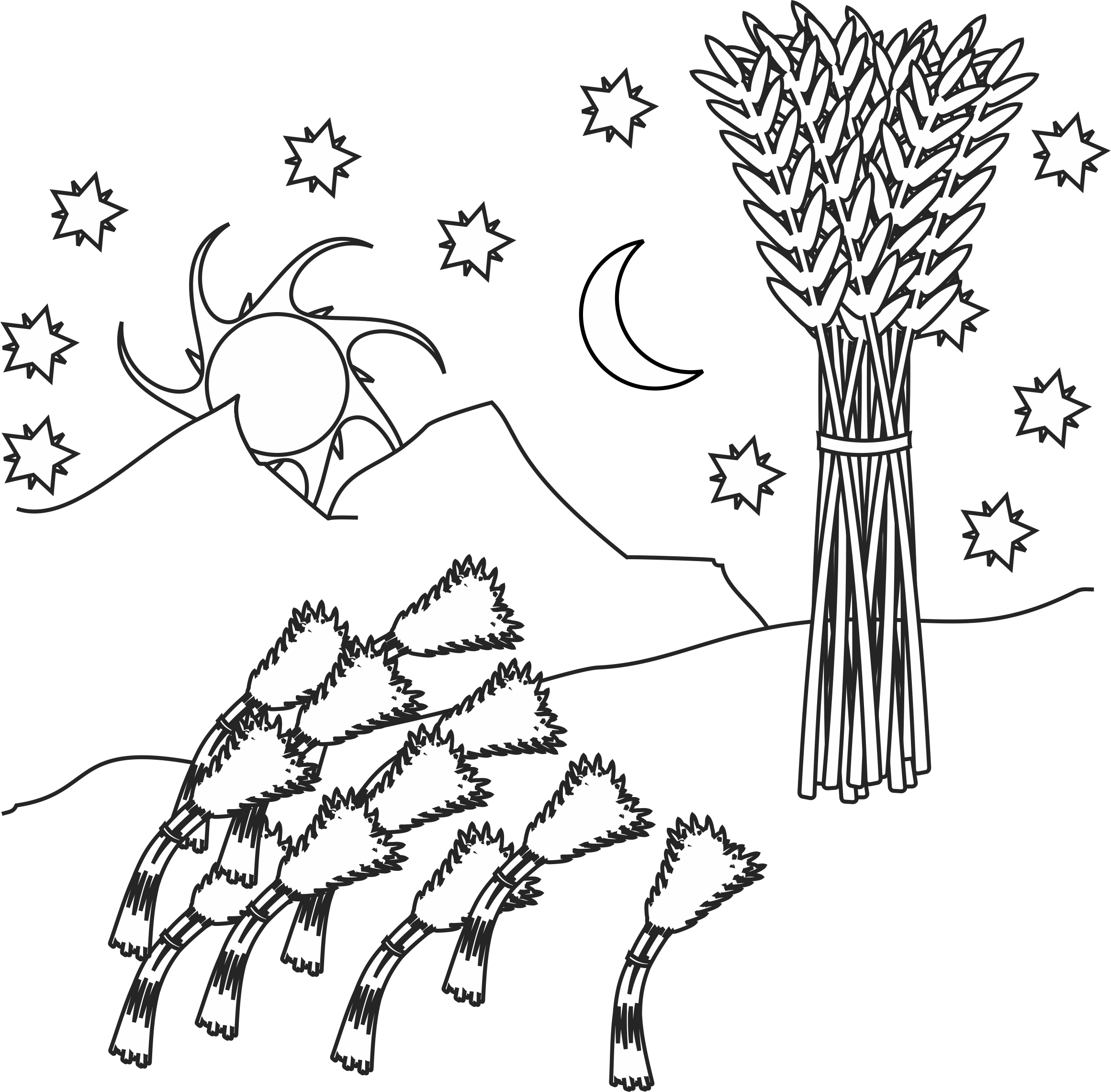 joseph king of dreams coloring pages joseph dream coloring page coloring home