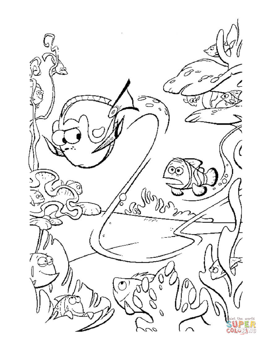 Finding Nemo coloring pages | Free Coloring Pages