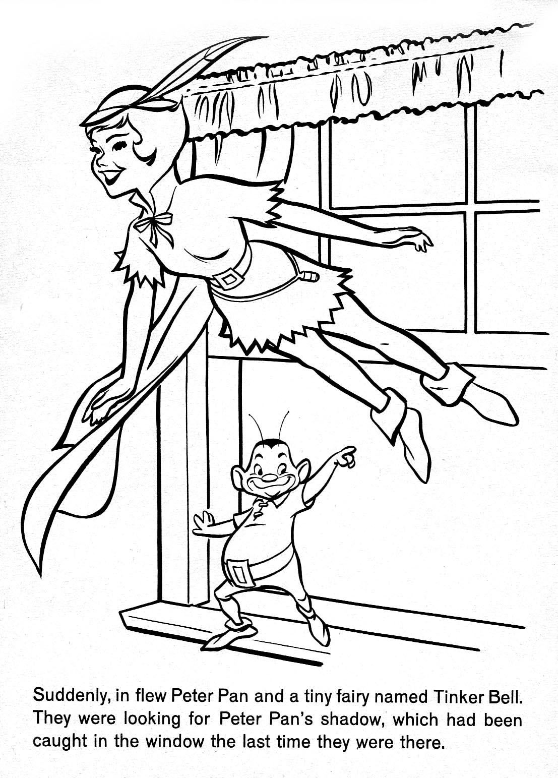 everything coloring pages - peter pan flying coloring pages coloring home
