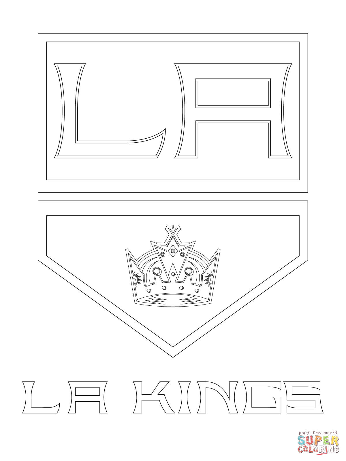 image about Los Angeles Kings Printable Schedule called Los Angeles Kings Brand Coloring Site Totally free Printable