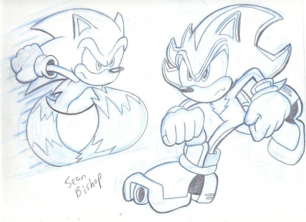 Sonic The Hedgehog Running Coloring