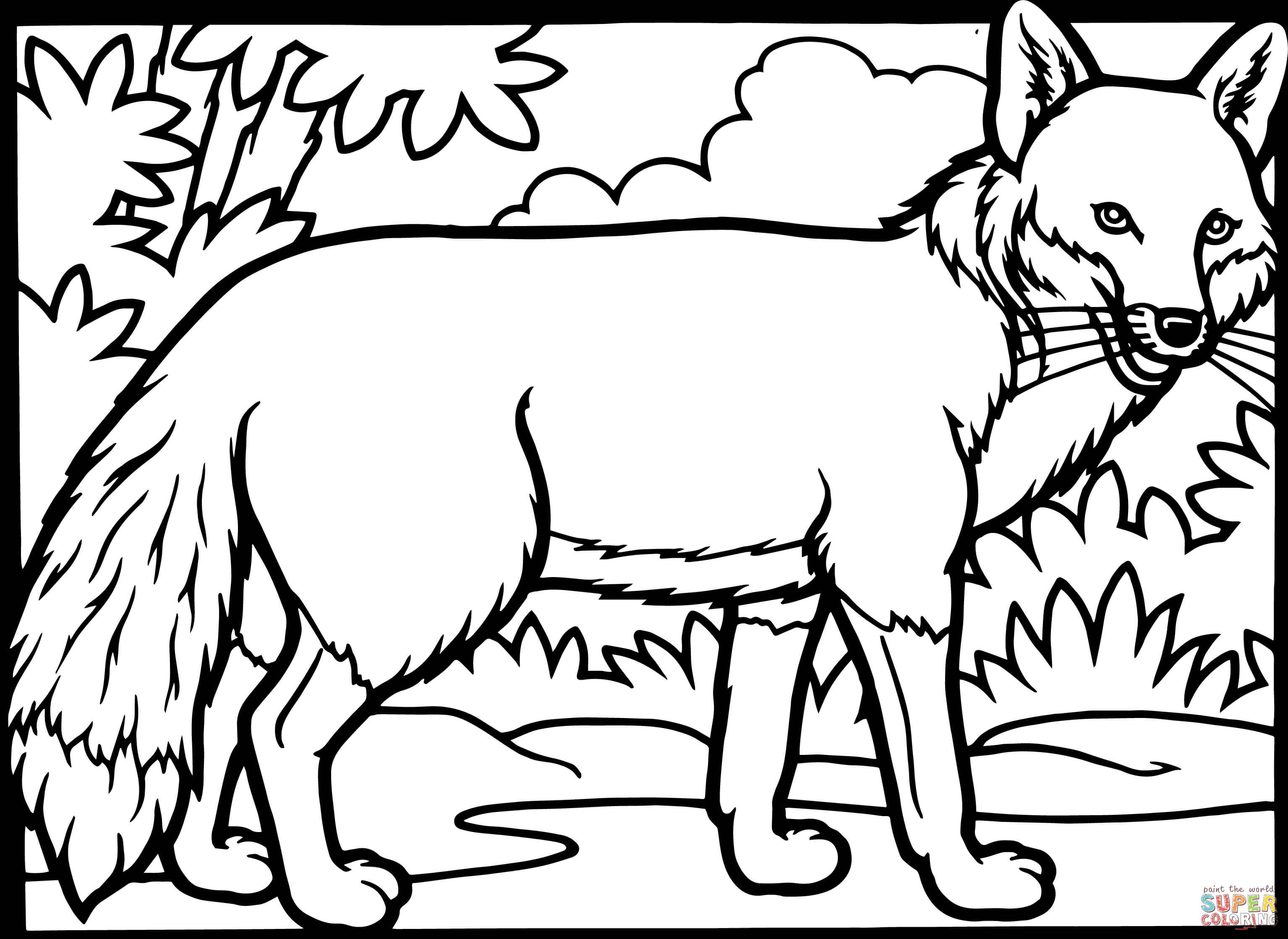 red fox coloring page free printable coloring pages - Free Printable Coloring Pages