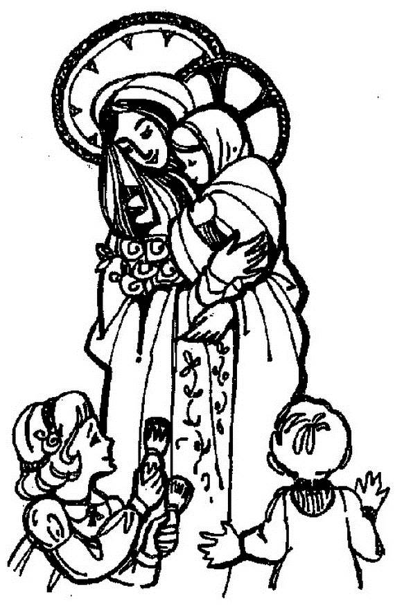 Virgin Mary Coloring Pages Coloring
