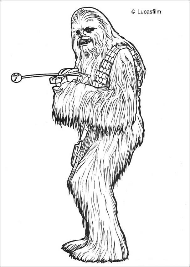 star wars coloring pages chewbacca - Star Wars Coloring Pages