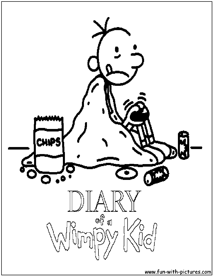 Diary Of A Wimpy Kid Coloring Sheet