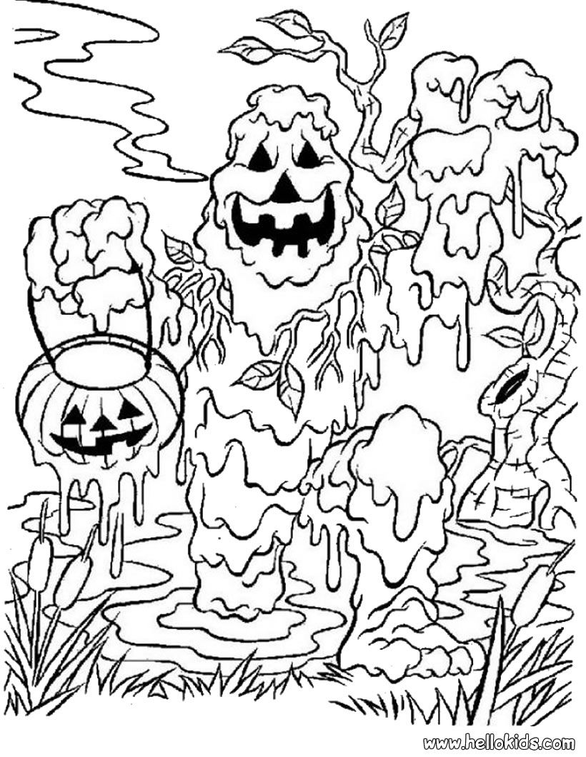 Monster Coloring Pages For Halloween - Coloring Home