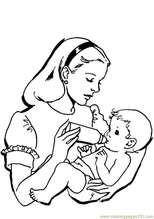 7 pics of baby girl coming coloring pages to print printable