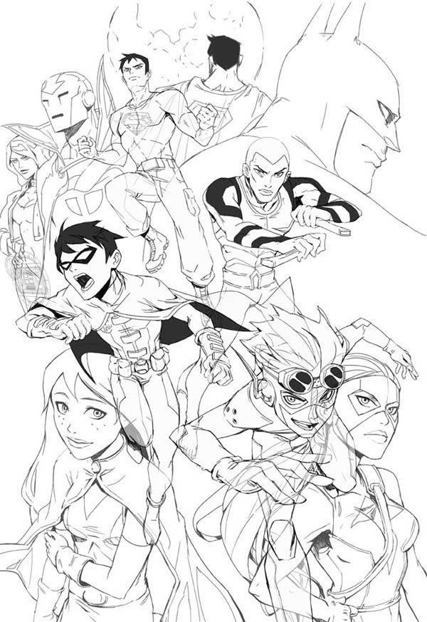 Young Justice Robin Coloring Page