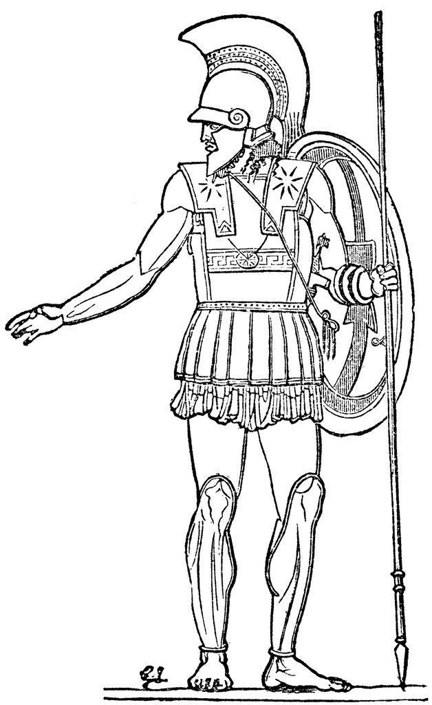 Ancient Roman War Coloring Pages