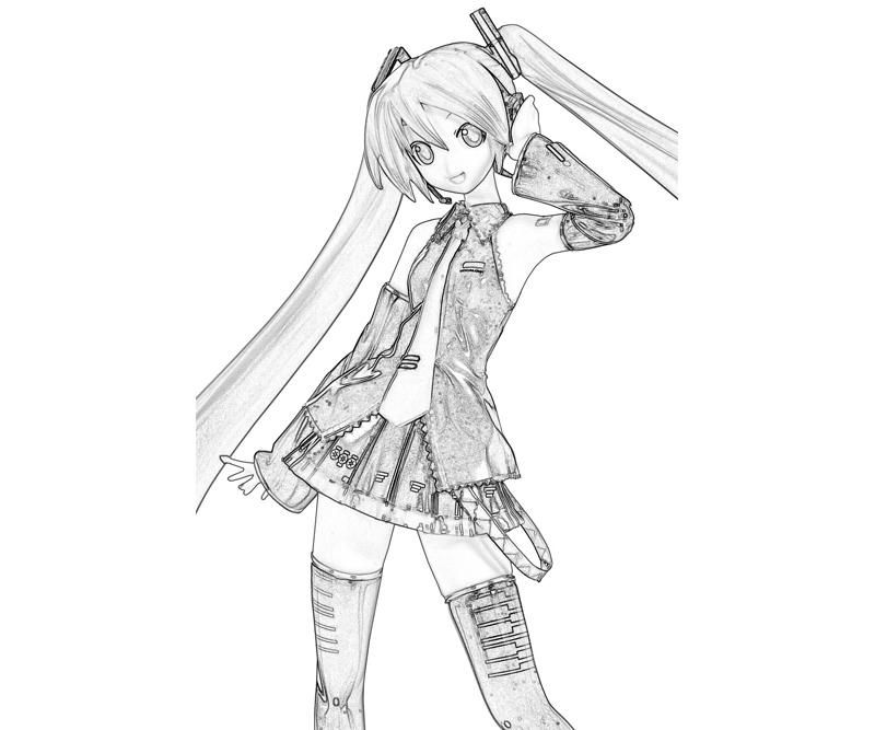 hatsune miku project hatsune miku happy how coloring - Hatsune Miku Chibi Coloring Pages