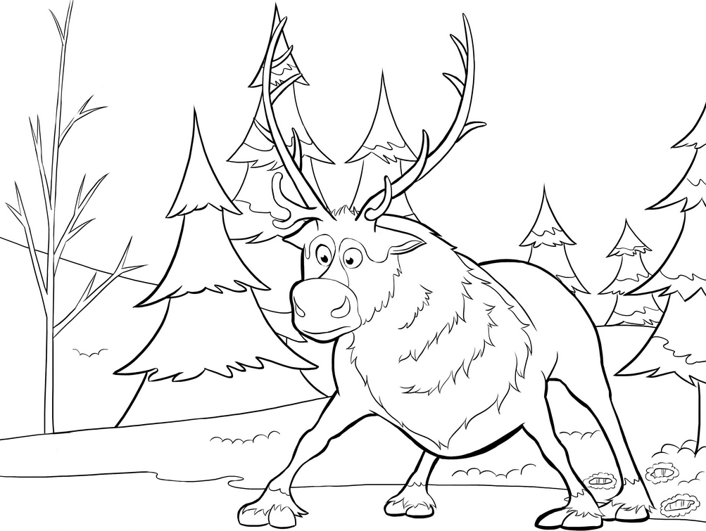 printable blank santa claus reindeer coloring pages colorinenet