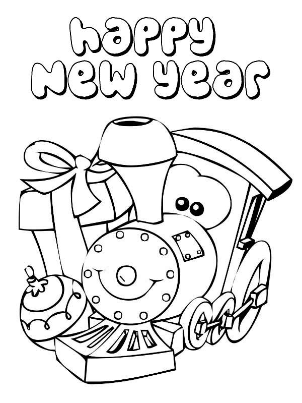 Happy New Year Coloring Pages - Coloring Home