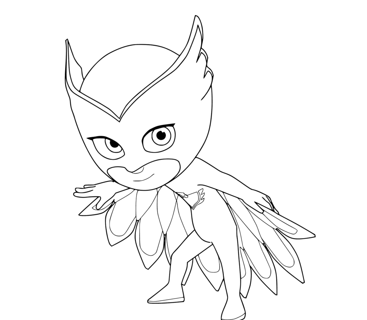 PJ Masks Coloring Pages Owlette Amaya
