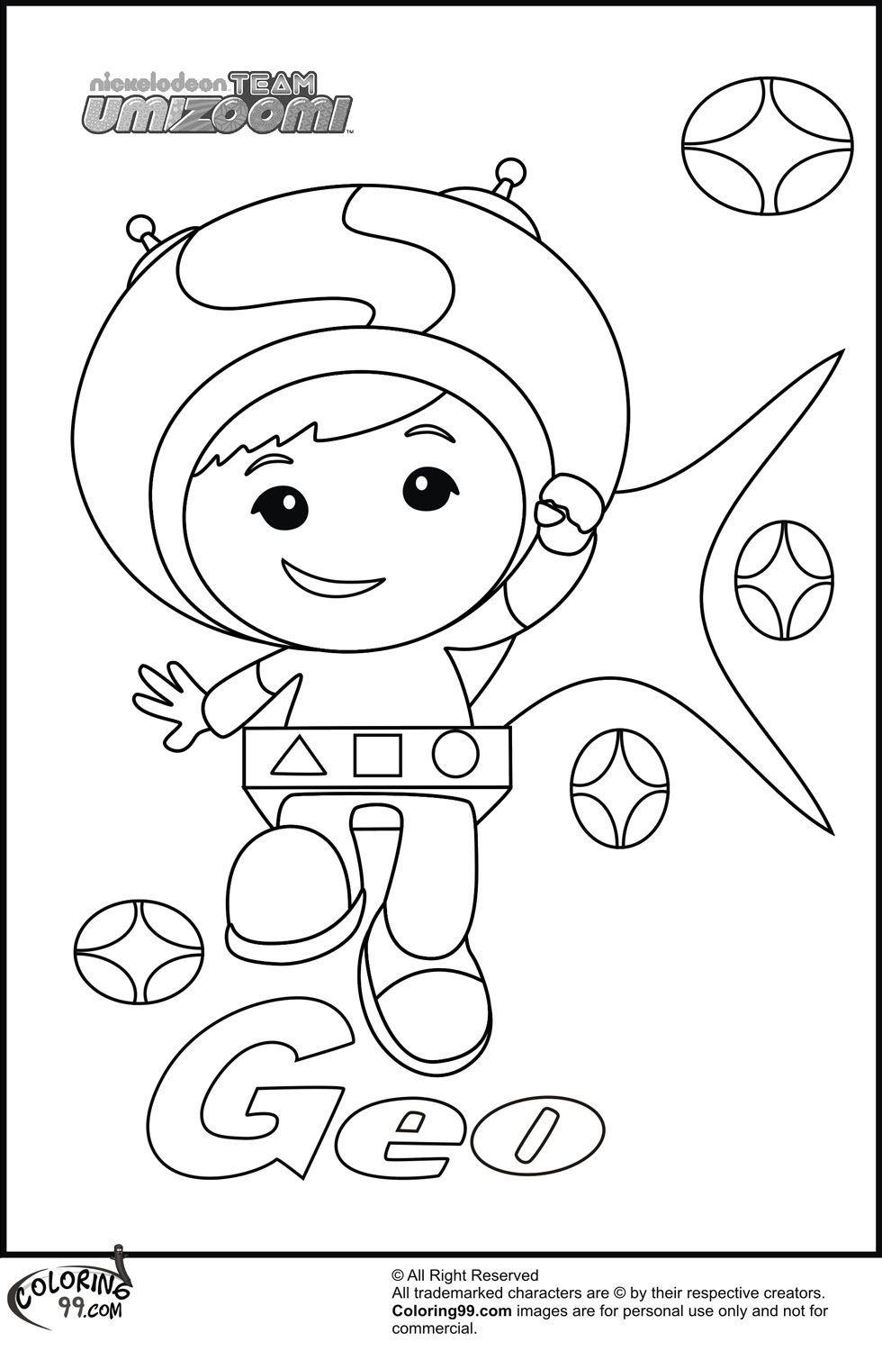 Team Umizoomi Coloring Pages Umizoomi Geo Colouring Pages