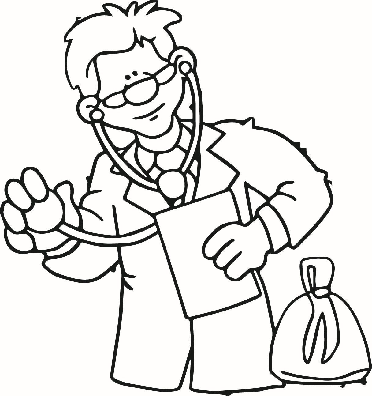 Doctor Coloring Pages For Kids Coloring Home Doctor Coloring Page