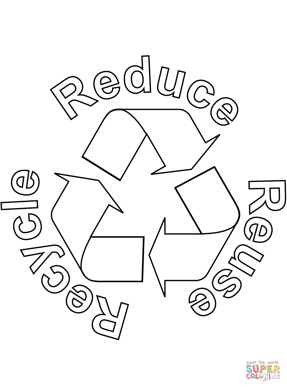 recycle coloring pages - photo#8