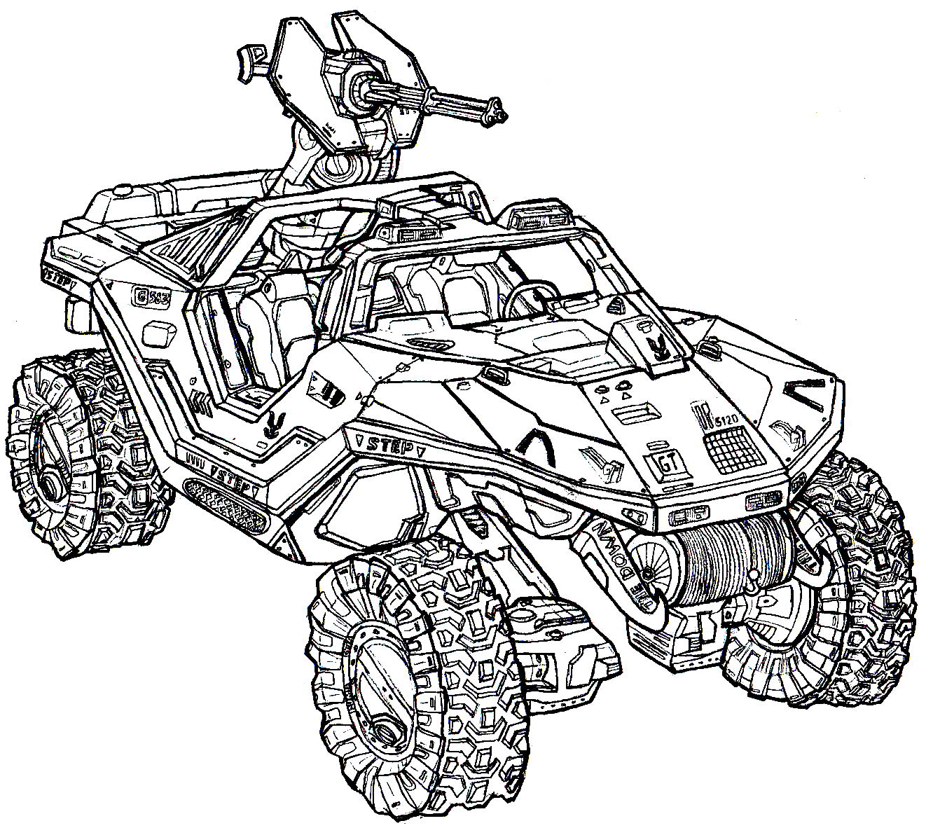 Heavy Xbox Halo Reach Coloring | Free| Halo Reach | Kids Coloring | 1182x1332
