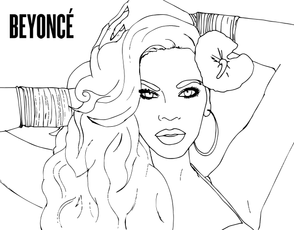 Beyonce Coloring Pages Coloring Home