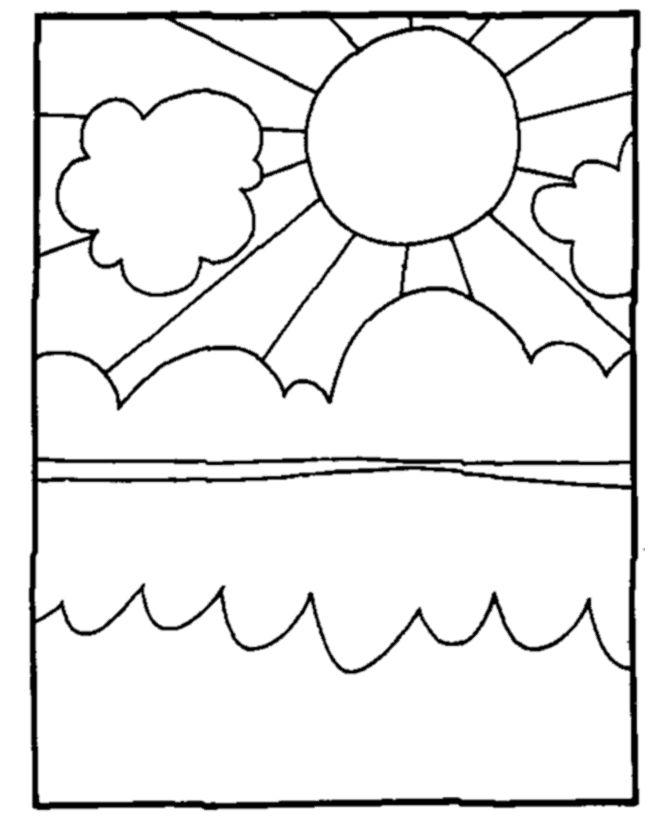cumulus cloud coloring pages - photo#41
